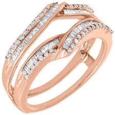 wedding ring jackets enhancer wrap solitaire engagement ring jacket 10k