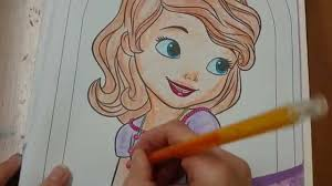 sofia the first coloring page youtube