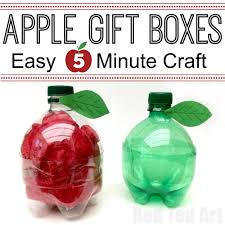 diy plastic bottle apple gift boxes quick and easy to make a