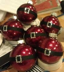 glittering santa ornament glitter the inside of a clear