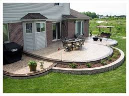 Backyard Stamped Concrete Ideas Brilliant Design Concrete Patio Designs Winning 1000 Ideas About