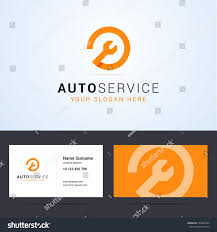 Automotive Business Card Templates Logo Business Card Template Layout Auto Stock Vector 370682594