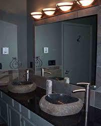 clear glass door modern bathroom mirror lighting black porcelain futuristic shower