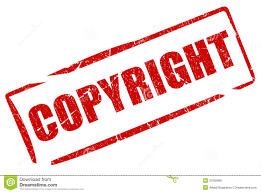 copyright and copyrighted stamp set royalty free stock photos