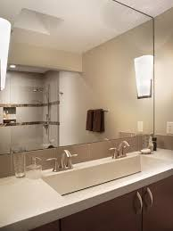 Double Trough Sink Bathroom Two Faucet Trough Sink Houzz