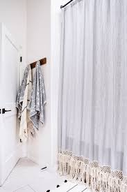 Restoration Hardware Shower Curtain Rings Diy Extra Long Shower Curtain