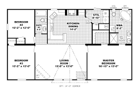 One Level Open Floor House Plans by 3 Bedroom Rambler Floor Plans Gallery Including Craftsman Style