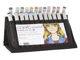 copic sketch markers 24 color manga wallet set b