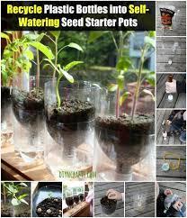 recycle plastic bottles into self watering seed starter pots diy