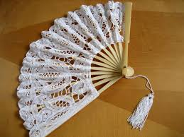 lace fan wedding battenburg lace fan