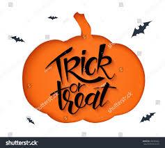 vector paper sheet clipped pumpkin silhouette stock vector