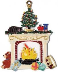 cozy fireplace german pewter ornament pewter tree ornaments