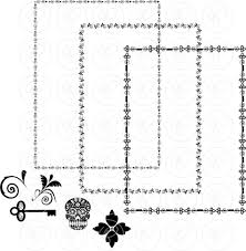 Halloween Page Borders by Gothic Frames U0026 Borders Clip Art Pack Card Making Digital Frames