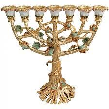 menorah tree of karshi jeweled gold vine menorah holy land christian gifts