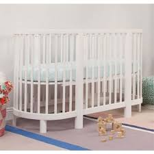 Oval Crib Mattress Babyletto Hula Convertible Oval Crib With Mini Pad In White