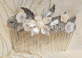 Shabby Chic Wedding Accessories by Silver Bridal Hair Comb Wedding Shabby Chic Hair Comb Hair