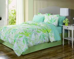 essential home complete bed set leaves