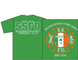 ssfd st patrick u0027s day apparel available silver spring