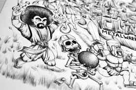 clash of clans fan art fan art clash of clans metal warriors on behance
