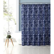 demi blue ikat shower curtain set at home at home