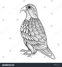 zentangle vector falcon bird hawk prey stock vector 338470904