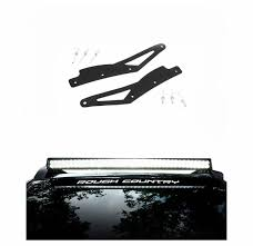 rough country light bar mounts rough country 40 inch curved led light bar roof rack mounts 2005
