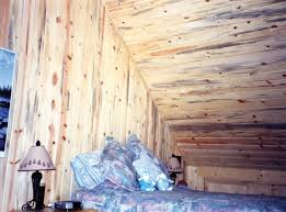 cute image of rustic attic bedroom decoration using rustic knotty