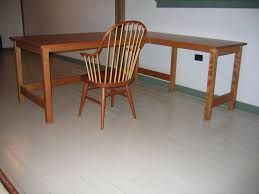 Panel Desk Paneled Desk With Return Shaker Furniture Handmade Furniture