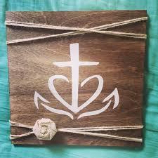 cross heart anchor sign faith hope love rustic sign