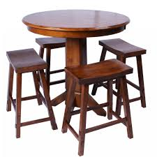 Rustic Pub Table Set Stunning Counter Height Bar Table With Sunset Trading Cabo 7 Piece