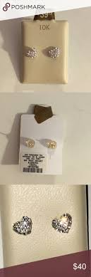 pagoda earrings nwot heart diamond earrings pagoda jewelry piercing and diamond