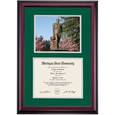 michigan state diploma frame michigan state graduation diploma frames by college ocm