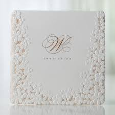 ivory pink embossed laser cut floral wedding invitations bh 3301