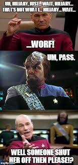 Worf Memes - what started as peaceful negotiations imgflip