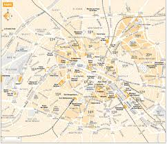 Metro Paris Map by Paris Street Map With Metro Maplets