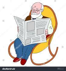 person reading newspaper clipart clipartxtras