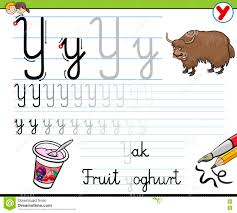 how to write letter y stock vector image of letter alphabet