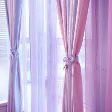 Pink And Purple Curtains Modern Pink Purple Jacquard Room Curtains Home Decor