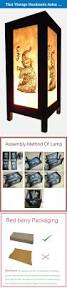 thai vintage handmade asian oriental elephant bedside table light