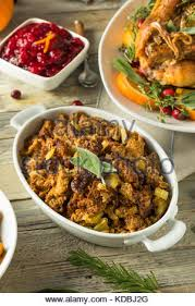 organic thanksgiving with herbs stock photo