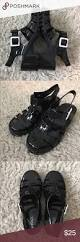 black rouge helium size 8 jelly sandals cute and trendy black