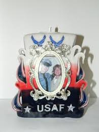 Personalize Candles Air Force Candle With Picture In A Frame We Customize And