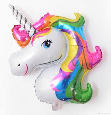 foil balloons 116 87cm anagram rainbow unicorn foil balloons america imported