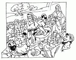 jesus feeds 5000 coloring page eson me