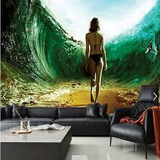 3d mural underwater channel sexy beauty 3d large mural 3d wallpaper living