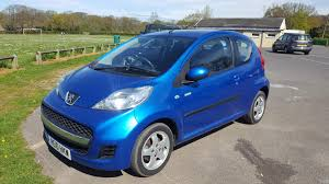 blue peugeot used peugeot 107 2010 for sale motors co uk