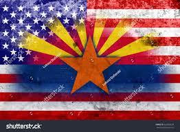 Old Flag Usa Usa Arizona State Flag Vintage Old Stock Illustration 222853639