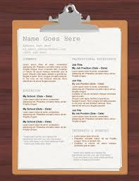 Resume Paper And Envelopes Clipboard