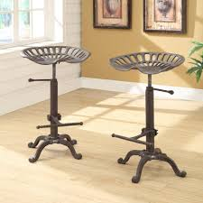 bar stools cast iron tractor seat stool rush seat bar stools