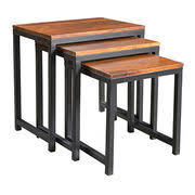 wood nesting coffee table india wooden nested end table from jodhpur trading company laxmi